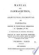 Manual del Farmacéutico ó Compendio elemental de Farmacia