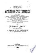 Manual del matrimonio civil y canónico