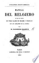 Manual del Relojero, etc