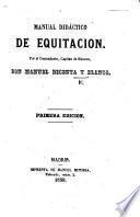 Manual didactico de equitacion. [With folding plates.]