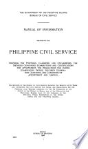 Manual of Information Relative to the Philippine Civil Service