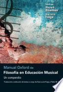 Manual Oxford de Filosofía en Educación Musical