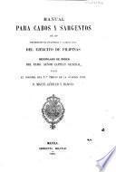 Manual para cabos y sargentos de los regimientos de infantería y guardia civil del Ejército de Filipinas