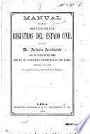 Manual para el servicio de los registros del estado civil