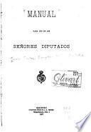 Manual para uso de los señores diputados