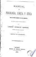Manual psicología, lógica y ética