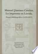 Manuel Jiménez Catalán. La imprenta en Lérida