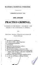 Materia criminal forense