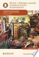 Materiales y atención al cliente en servicios de guarnicionería. TCPF0110