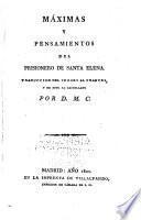 Máximas y pensamientos del prisionero de Santa Elena