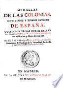 Medallas de las colonias, municipios y pueblos antiguos de España, 1