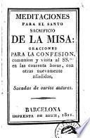 Meditaciones para el santo sacrificio de la misa