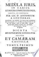 Medula iuris in Varijs, et de iure competente fisco