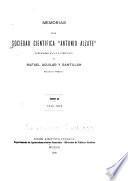 Memoires de la Société scientifique Antonio Alzate