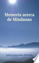 Memoria acerca de Mindanao