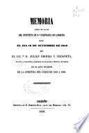 Memoria acerca del estado del Instituto de 2a. Enseñanza de Logroño leída el día... en la acto solemne de la apertura del curso de ...