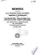 Memoria acerca del estado del Instituto de Santander durante el curso de...
