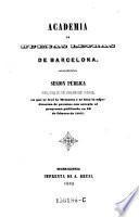 Memoria acerca el origen, vicisitudes, trabajos literarios y estado de la Academia