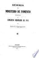 Memoria al Congreso Ordinario