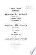 Memoria científica para la inauguración de la estatua de Alejandro de Humboldt