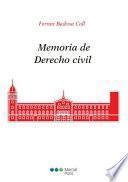 Memoria de Derecho civil