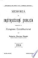 Memoria de educación pública