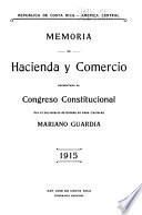 Memoria de Hacienda y Comercio