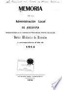 Memoria de la Administración Local
