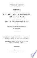 Memoria de la Dirección General de Aduanas