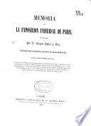 Memoria de la Exposición Universal de París