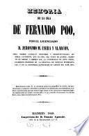 Memoria de la isla de Fernando Po ...