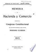 Memoria de la Secretari a de Hacienda y Comercio correspondiente al an o ...