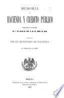 Memoria de la Secretaría de Hacienda y Crédito Público