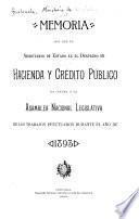 Memoria de la Secretaria de Hacienda y Crédito Público ...