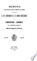 Memoria de las fiestas con que la República del Ecuador ha celebrado el VII centenario de la Orden Mercedaria y la coronación canónica de la portentosa imagen de Nuestra Señora de las Mercedes, 1218-1918