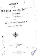 Memoria de las misiones de Fernando Póo y sus dependencias