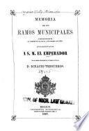 Memoria de los ramos municipales correspondiente al semestre de ...