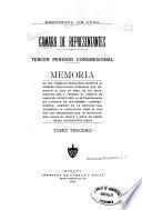 Memoria de los trabajos realizados durante ... Legislaturas del ... periodo Congresional transcurrido del ... al ...
