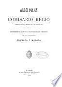 Memoria del Comisario Regio, nombrado por Real decreto de 13 de abril de 1885 para la reedificación de los pueblos destruidos por los terremotos en las provincias de Granada y Málaga