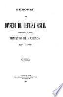 Memoria del Consejo de Defensa Fiscal