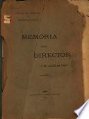Memoria del director