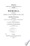Memoria del Instituto de Segunda Enseñanza de Cádiz