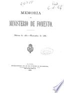Memoria del Ministerio de Fomento