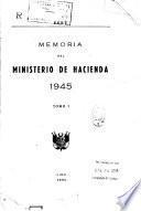Memoria del Ministerio de Hacienda