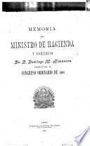 Memoria del Ministerio de Hacienda y Comercio
