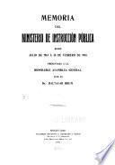 Memoria del Ministerio de Instrucción Pública