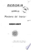 Memoria del Ministerio del Interior