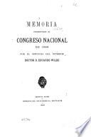 Memoria del Ministerio del Interior presentada al Congreso Nacional