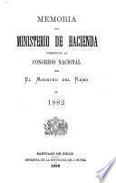 Memoria del Ministrio de Hacienda presentada al Congreso nacional