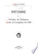 Memoria del Ministro de Gobierno al Congreso de ...